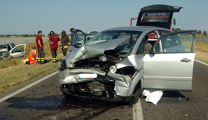 Incidente auto rubata