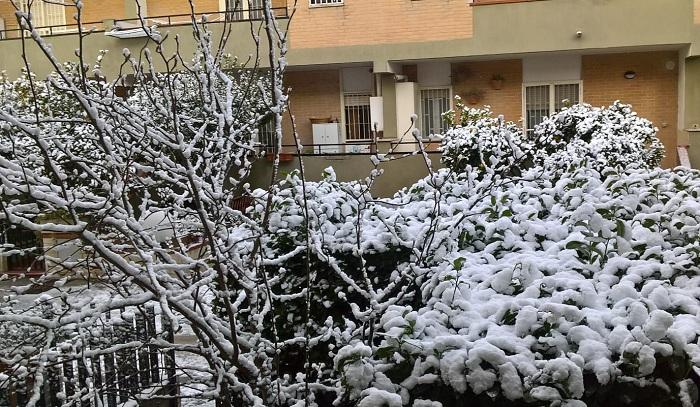 Neve A Caserta Il Capoluogo Si è Svegliato Sotto Un Manto