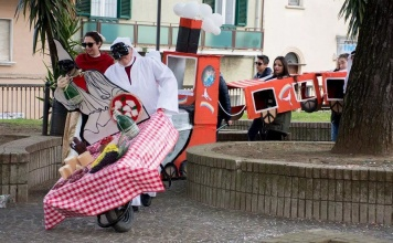 Carnevale in carriola a Caiazzo