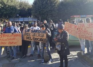 Corteo migranti Caserta