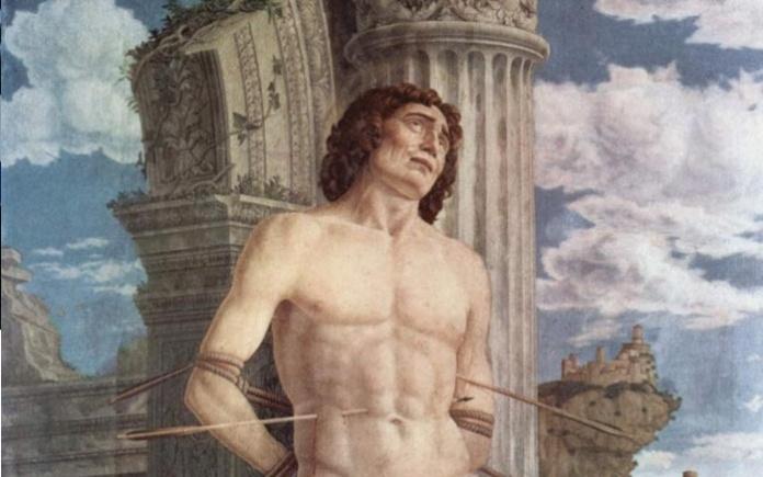 Il martirio di San Sebastiano (particolare), Andrea Mantegna