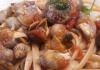 Linguine con lumache di mare