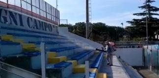 Disinfezione straordinaria allo Stadio Pinto