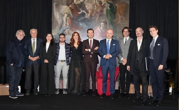 Giacomo Garau con tutti i vincitori del Premio Artis Suavitas 2020