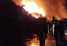 Incendio materiale ferroso