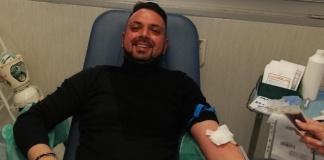 Angelo Quindici di Villa Fiorita dona sangue al Centro Trasfusionale di Aversa