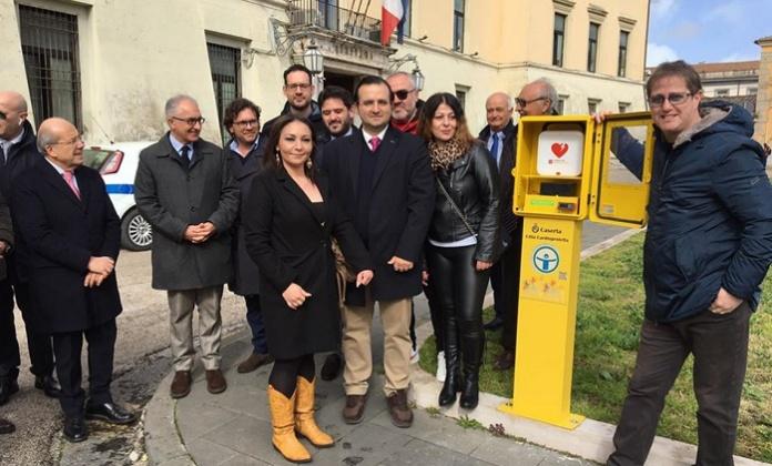 Donazione defibrillatore alla Città di Caserta
