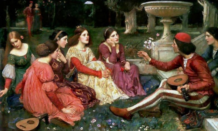 John William Waterhouse, A Tale from Decameron, 1916, Lady Lever Art Gallery, Liverpool.