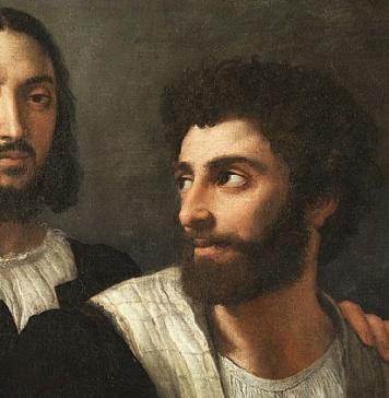 Raffaello Sanzio, Autoritratto con amico (1518 circa), Louvre, Parigi