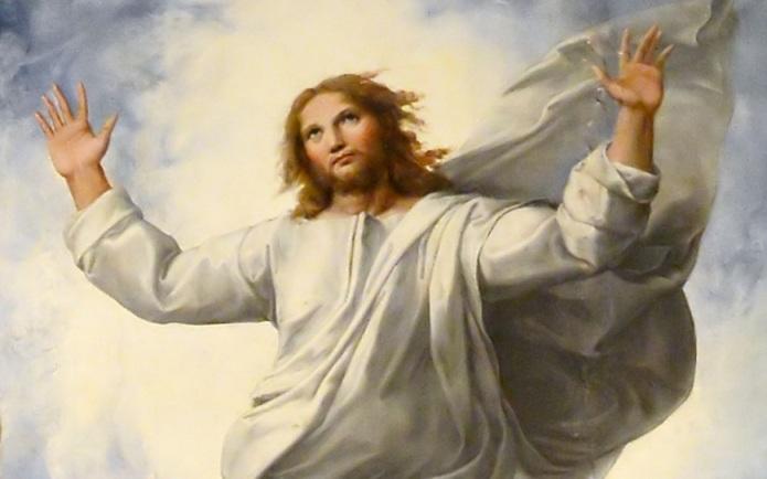 Dettaglio della Trasfigurazione di Raffaello Sanzio, Pinacoteca Vaticana