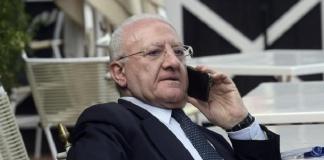 Vincenzo De Luca in disaccordo con il Governo