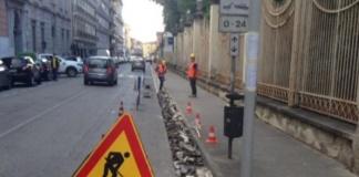 Corso Giannone pista ciclabile