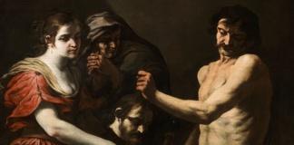 Salomé riceve la testa di Giovanni Battista (particolare), Andrea Vaccaro (1600 - 1670)
