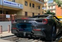 Durante i controlli dei Carabinieri sequestrata una Ferrari488