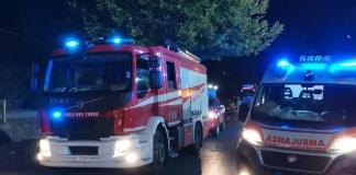 Aversa, due autovetture coinvolte in un incidente, intervengono i Vigili del Fuoco