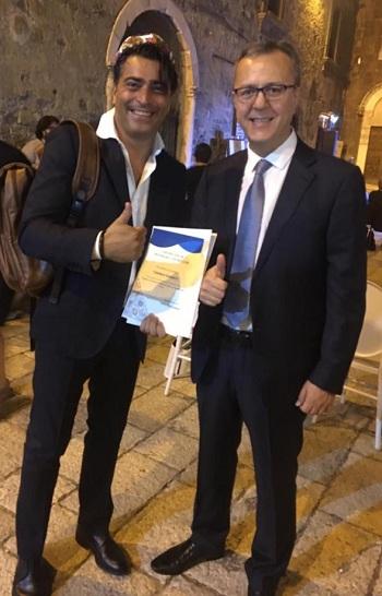 Gianluca Iannucci con l'Ambasciatore dell'Uzbekistan