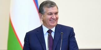 Il Presidente dell'Uzbekistan Shavkat Mirziyoyev