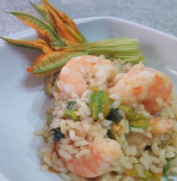 riso e gamberetti