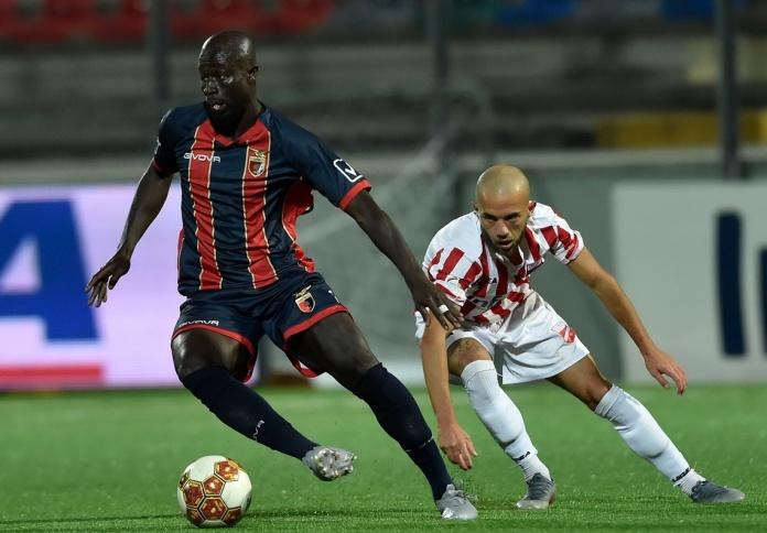 Il difensore rossoblù Konate nella gara col Teramo - Foto di Giuseppe Scialla