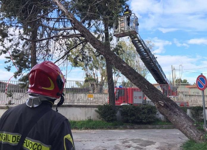Maltempo, i Vigili del Fuoco di Caserta hanno dovuto far fronte a numerose richieste di intervento