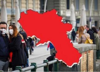 Regione Campania in Zona Rossa