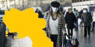 La Campania verso la zona gialla