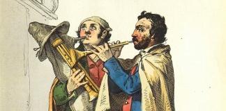 Le poetiche nostalgiche musiche degli gli zampognari