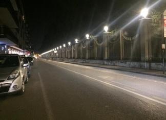 Nuova illuminazione a Caserta. Risparmio energetico e maggiore luminosità a corso Giannone