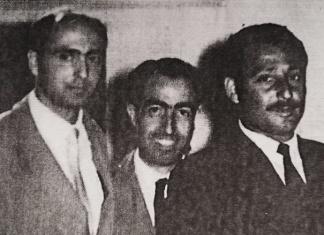 1950, Mario Pignataro (al centro), della segreteria CGIL provinciale, con Giorgio Napolitano (a sinistra), allora Segretario provinciale del PCI di Caserta