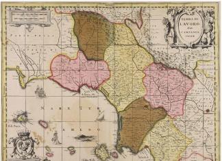 Antica mappa di Terra di Lavoro