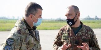 Il Gen. Rinaldi con il Col. Nanni