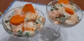 Insalata di gamberi, varietà mazzancolle