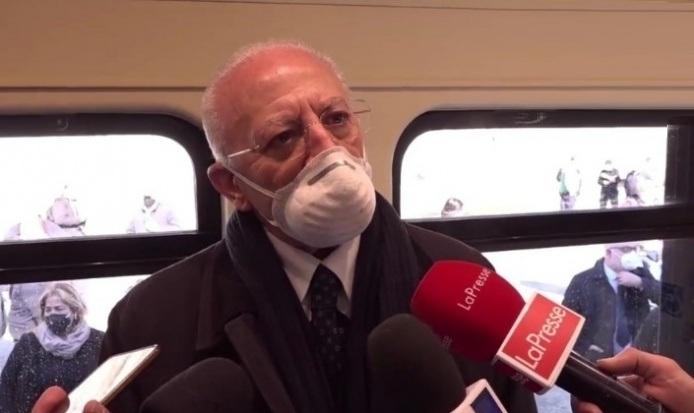 Regione Campania il punto sui vaccini e sul nuovo investimento per i treni, sostegno alla Firema