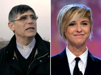 don Patricello e Nadia Toffa
