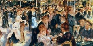 Pierre Auguste Renoir, Ballo al Moulin de la Galette, 1876 - Museo d'Orsay di Parigi