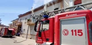 Incendio in un appartamento di San Prisco domato dai Vigili del Fuoco di Caserta