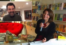Enrico Ianniello e Mariamichela Formisano durante il live streaming