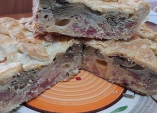 Pizza rustica con carciofi