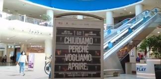 Anche il Centro Commerciale Campania ha aderito alla serrata di protesta nazionale
