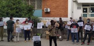 Oggi si è tenuto un nuovo presidio fuori l'Ex Onmi di Caserta, in viale Beneduce