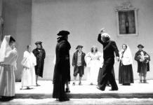 Giorgio Strehler nelle prove de Il Campiello