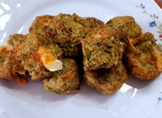 Polpettine di broccoli verdi con caciocavallo silano